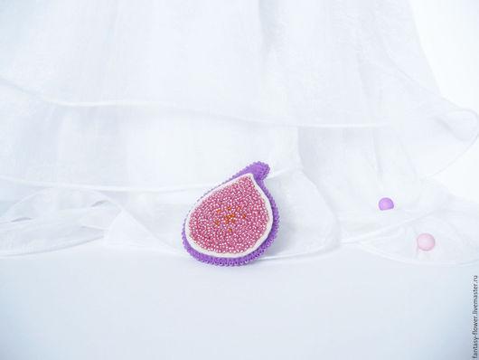 """Броши ручной работы. Ярмарка Мастеров - ручная работа. Купить Брошь """"Сладкий инжир"""". Handmade. Розовый, брошь в подарок"""