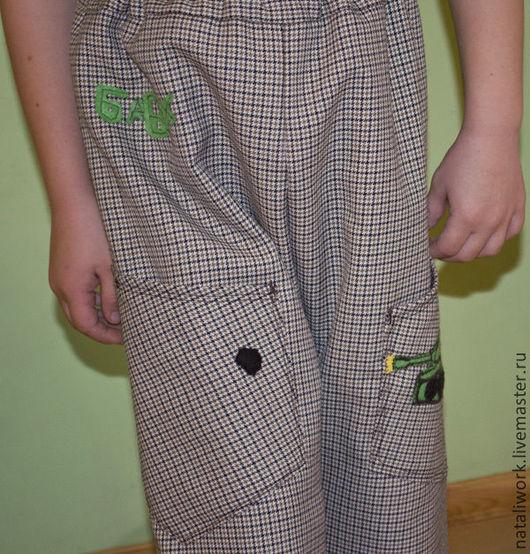 Одежда для мальчиков, ручной работы. Ярмарка Мастеров - ручная работа. Купить Брюки из тонкой шерсти. Размер 110-116. Handmade.