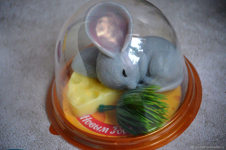 Спящий мышонок в куполе с сыром, Мыло, Химки,  Фото №1