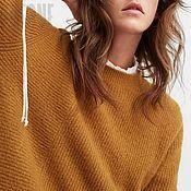 """Одежда ручной работы. Ярмарка Мастеров - ручная работа Свитер желтый """"Охра"""". Желтый свитер. Желтый свитер. Желтый свитер. Handmade."""