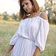 Платья ручной работы. Ярмарка Мастеров - ручная работа. Купить Белое длинное платье. Handmade. Белый, белое платье
