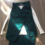 Одежда ручной работы. Ярмарка Мастеров - ручная работа Вязаный костюм (юбка и жилет). Handmade.