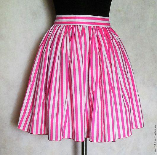 короткая юбка, рисунок в полоску,юбка мини ,красивая юбка, модная юбка, для отдыха, летняя юбка, легкая юбочка, подарок, модная одежда, юбка в полоску