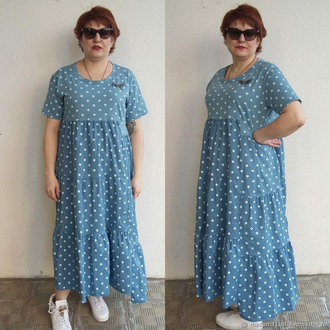 afd7f13974d Хлопковое платье большого размера – купить в интернет-магазине на ...