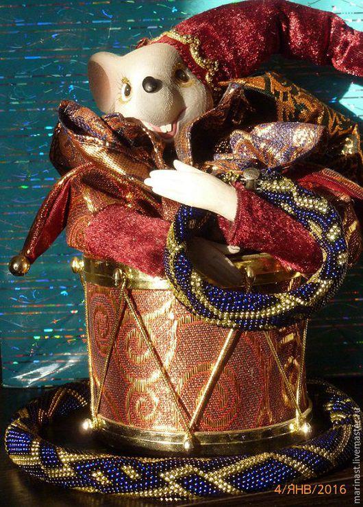 """Колье, бусы ручной работы. Ярмарка Мастеров - ручная работа. Купить Вязаный жгут из бисера """"Зимняя ночь"""". Handmade."""