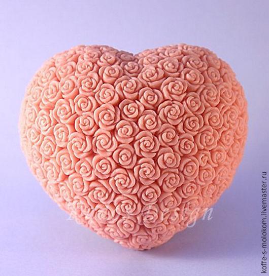Силиконовая форма для мыла Сердце из роз, Формы, Москва, Фото №1