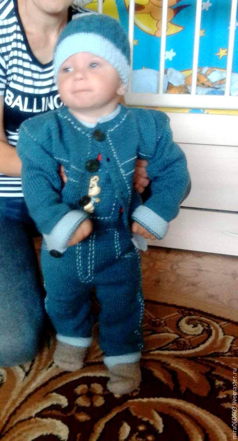 Детские комбинезоны для мальчиков и их вязание спицами