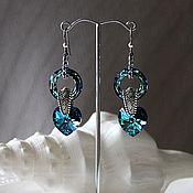 "Украшения handmade. Livemaster - original item Earrings ""Swarovski Heart"".. Handmade."