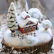 Для дома и интерьера handmade. Livemaster - original item Felt miniature. The birthplace of WINTER