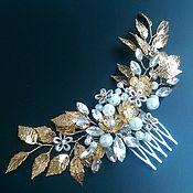 Свадебный салон handmade. Livemaster - original item Bridal comb. Golden garden.. Handmade.
