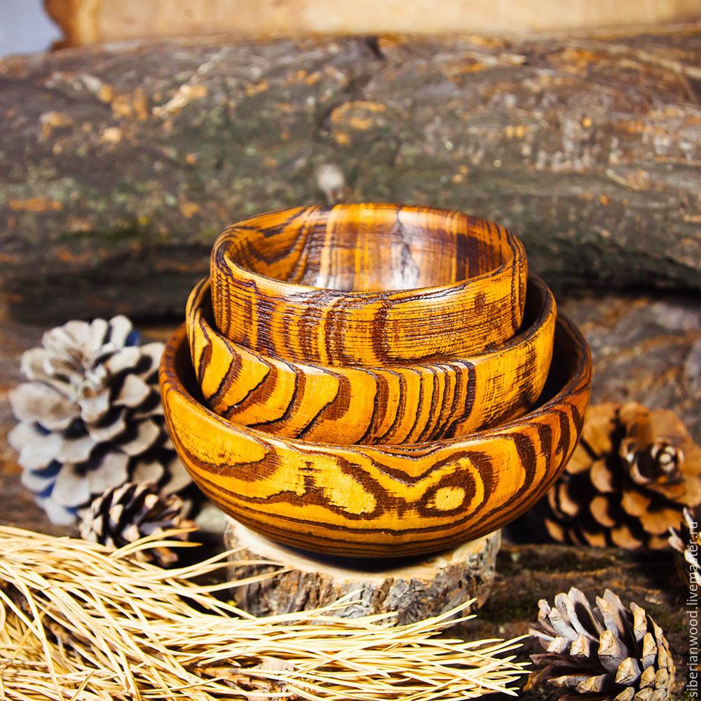 A set of Wooden Bowls from Elm (3#28, Plates, Novokuznetsk,  Фото №1