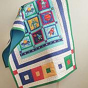 """Для дома и интерьера ручной работы. Ярмарка Мастеров - ручная работа Лоскутное одеяло """"Космическое путешествие"""" лоскутное покрывало. Handmade."""