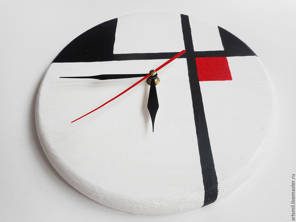 Watch avangard wall clock minimalist painting on wood shop online on livemaster with - Insulating exterior paint minimalist ...