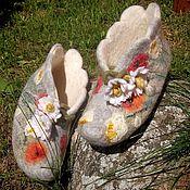 Обувь ручной работы. Ярмарка Мастеров - ручная работа Башмачки,,Ромашки``. Handmade.