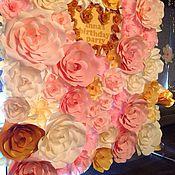 Подарки к праздникам ручной работы. Ярмарка Мастеров - ручная работа Цветочный пресс-волл для девичего дня рождения (в аренду). Handmade.