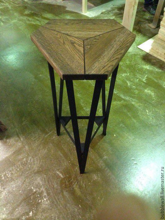 Мебель ручной работы. Ярмарка Мастеров - ручная работа. Купить Табурет. Handmade. Черный, металл, металл