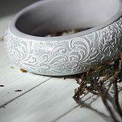 Украшения ручной работы. Ярмарка Мастеров - ручная работа Браслет Северное барокко из полимерной глины. Handmade.