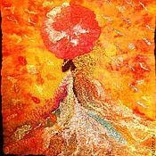 Картины и панно ручной работы. Ярмарка Мастеров - ручная работа Валяная картина Фея Осень. Handmade.