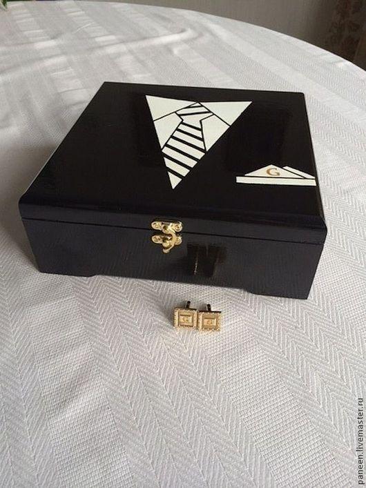 Мужские шкатулки ручной работы.  PaneenBox. Cufflink box.