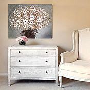 """Картины и панно ручной работы. Ярмарка Мастеров - ручная работа """"Белый букет"""" Интерьерная картина. Handmade."""