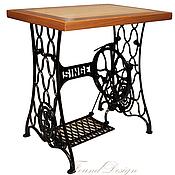Для дома и интерьера ручной работы. Ярмарка Мастеров - ручная работа Столик из ясеня на станине от швейной машинки Зингер. Handmade.