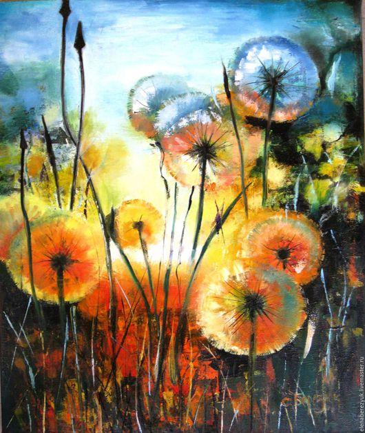 Картины цветов ручной работы. Ярмарка Мастеров - ручная работа. Купить Вечерние шепоты - картина маслом на холсте, картина цветов, цветков. Handmade.