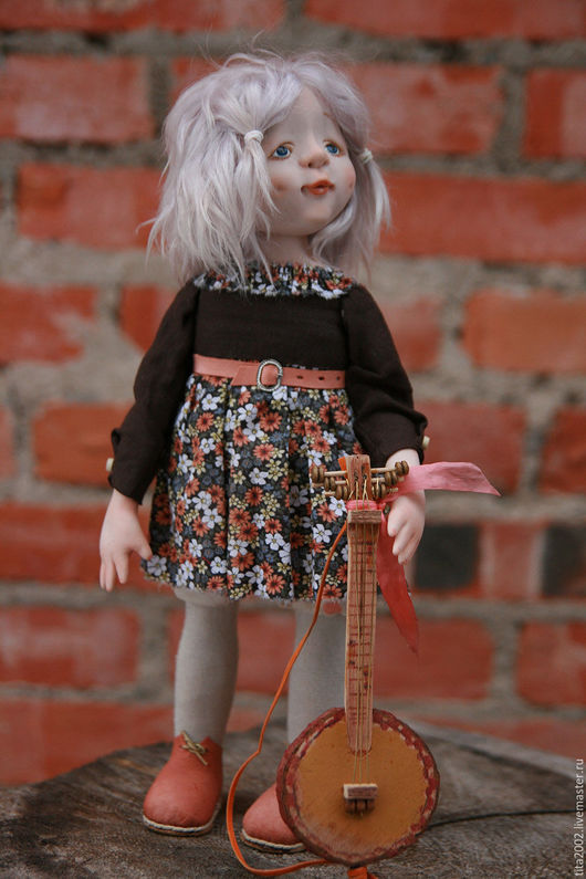 Коллекционные куклы ручной работы. Ярмарка Мастеров - ручная работа. Купить Звонкий ручеёк. Handmade. Коричневый, подарок, Ливинг долл