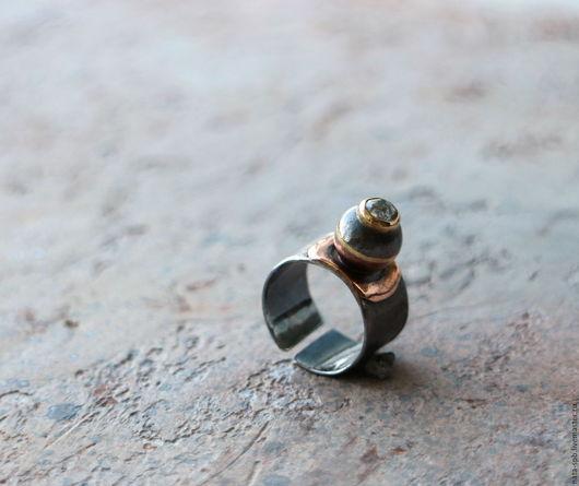 Кольца ручной работы. Ярмарка Мастеров - ручная работа. Купить JOY # 752 кольцо (алмаз, серебро, золото, медь, латунь). Handmade.