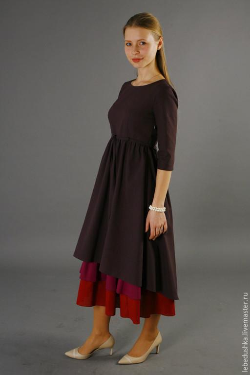 Платья ручной работы. Ярмарка Мастеров - ручная работа. Купить Летнее платье Бутон. Handmade. Разноцветный, нижняя юбка