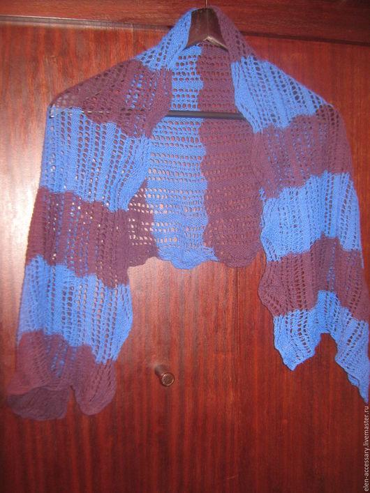 Шарфы и шарфики ручной работы. Ярмарка Мастеров - ручная работа. Купить ажурный кашемировый шарф Контата. Handmade. Синий, кашемировыйшарф