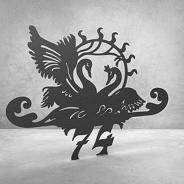 """Для дома и интерьера ручной работы. Ярмарка Мастеров - ручная работа Номерок на дверь """"Swans"""". Handmade."""
