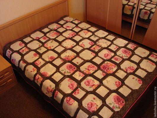 Текстиль, ковры ручной работы. Ярмарка Мастеров - ручная работа. Купить лоскутное покрывало Городской сад. Handmade. Разноцветный, дача