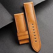 Украшения handmade. Livemaster - original item Calf leather watchband (43). Handmade.