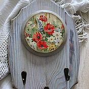 """Для дома и интерьера ручной работы. Ярмарка Мастеров - ручная работа Ключница -панно """"Летние цветы"""" декупаж для дома. Handmade."""