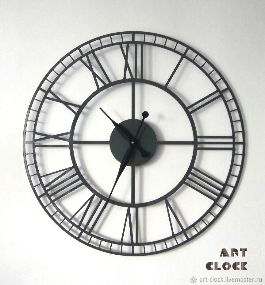 Large wall clock made of metal 'Bern' 70 cm, Watch, Samara,  Фото №1