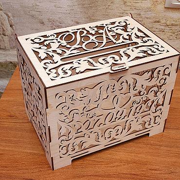 Свадебный салон ручной работы. Ярмарка Мастеров - ручная работа Свадебная казна и коробочка для колец. Handmade.