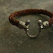 Украшения handmade. Livemaster - original item The genuine leather bracelet ,Bear. Handmade.