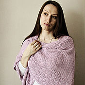 """Аксессуары ручной работы. Ярмарка Мастеров - ручная работа Шаль вязаная  """"Античная, розовая.."""",  купить шаль , вязаная шаль. Handmade."""