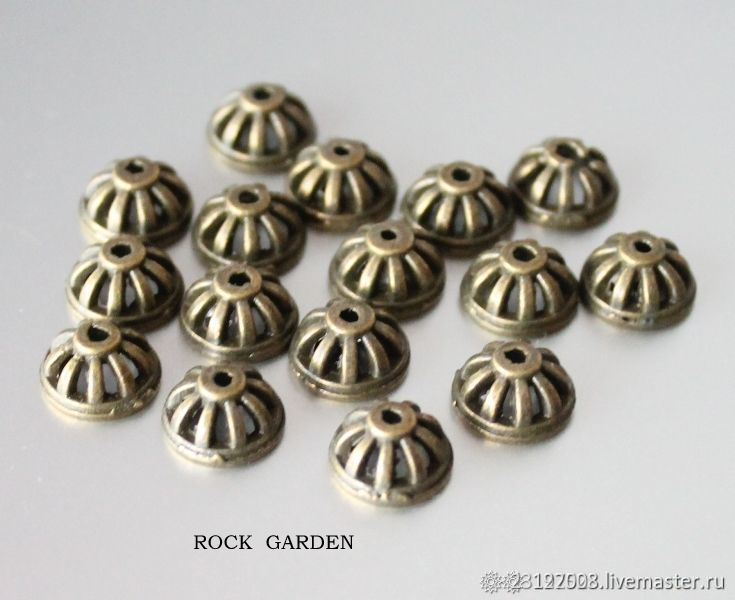 Bead CAP - bronze 10h5mm, Accessories for jewelry, St. Petersburg,  Фото №1