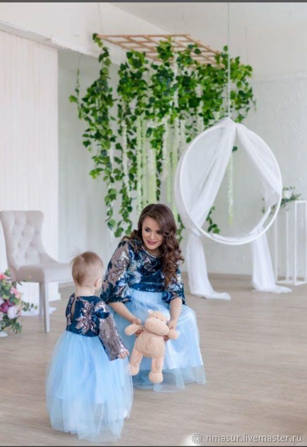 Платье для мамы и дочки Family Look – купить в интернет-магазине на Ярмарке Мастеров с доставкой