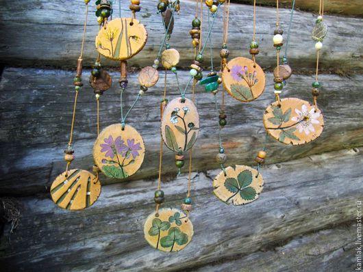 Кулоны, подвески ручной работы. Ярмарка Мастеров - ручная работа. Купить Бусы с цветами, травами и камушками. Handmade. Цветы, растение
