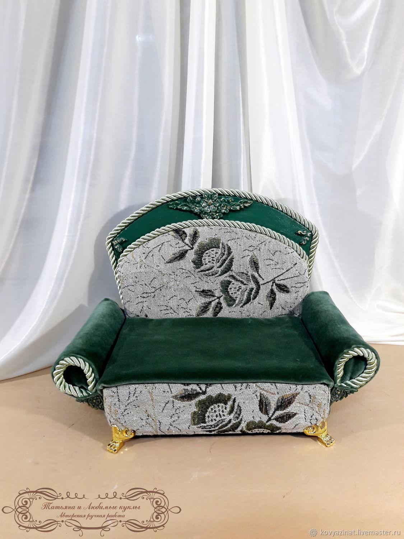 Furniture for dolls: sofa for dolls 30-50cm, Doll furniture, Lesnoj,  Фото №1