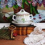 Винтаж handmade. Livemaster - original item Sosnick on a plate, pre-revolutionary porcelain, Kuznetsov. Handmade.