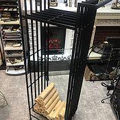 Камины ручной работы. Ярмарка Мастеров - ручная работа Стеллаж для дров на колёсиках. Handmade.