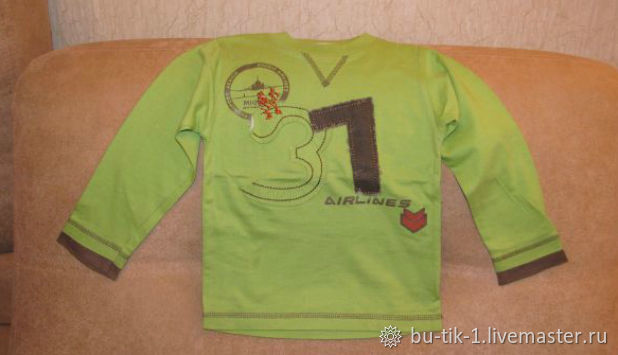 Light green long sleeve t-shirt size 92, Vintage clothing, Moscow,  Фото №1
