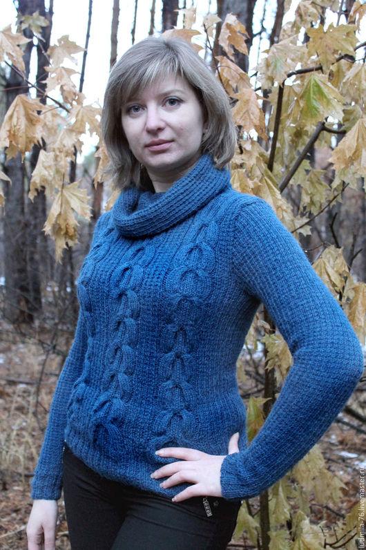 Кофты и свитера ручной работы. Ярмарка Мастеров - ручная работа. Купить свитер из альпаки Морской бриз. Handmade. Морская волна