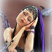 Куклы и игрушки ручной работы. Ярмарка Мастеров - ручная работа Авторская кукла Лиловые Сны. Handmade.