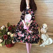 """Куклы и игрушки ручной работы. Ярмарка Мастеров - ручная работа Портретная кукла тильда """"Мама с дочкой"""". Handmade."""