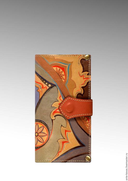 """Кошельки и визитницы ручной работы. Ярмарка Мастеров - ручная работа. Купить Портмоне """"Конь-сказочник"""". Handmade. Комбинированный, портмоне кожаное"""