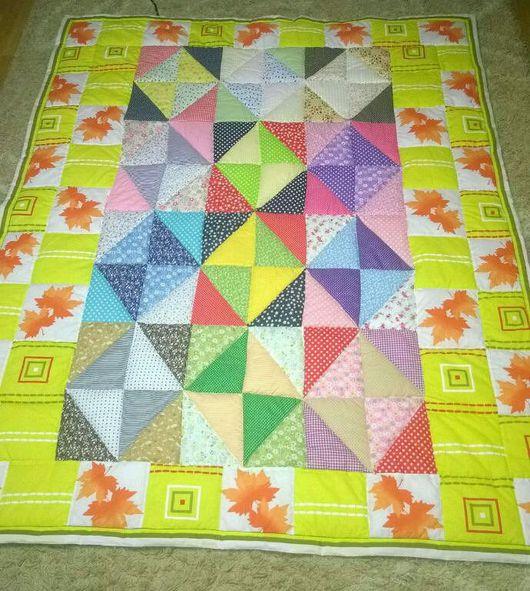 Текстиль, ковры ручной работы. Ярмарка Мастеров - ручная работа. Купить Лоскутное одеяло-покрывало. Handmade. Одеяло пэчворк